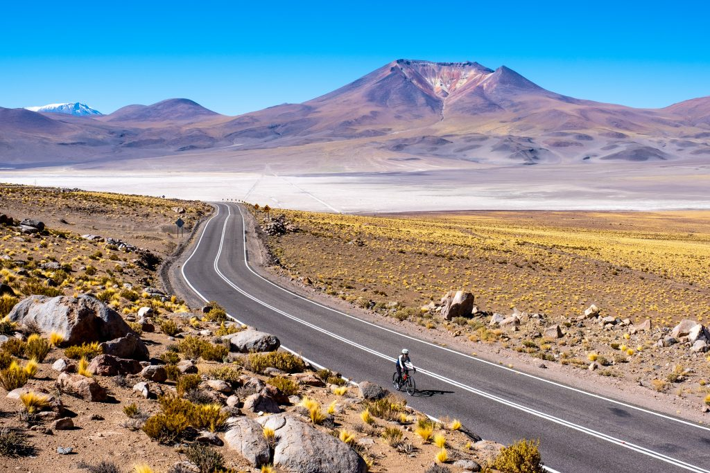 Cycling in Alto Loa national reserve Chile