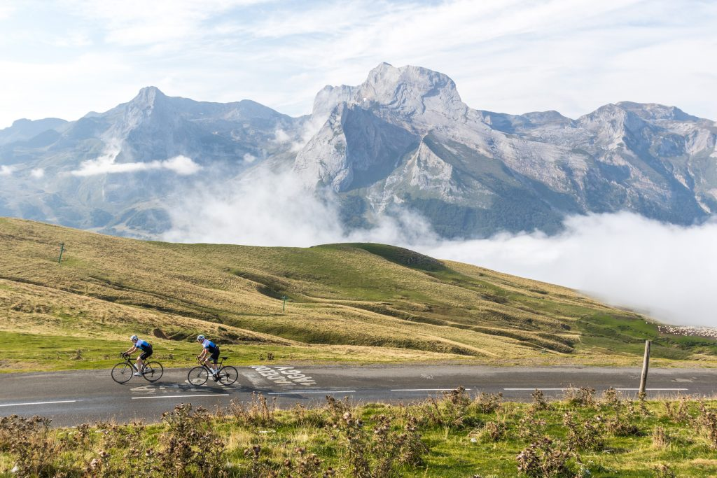 Cycling at Col d'Aubisque