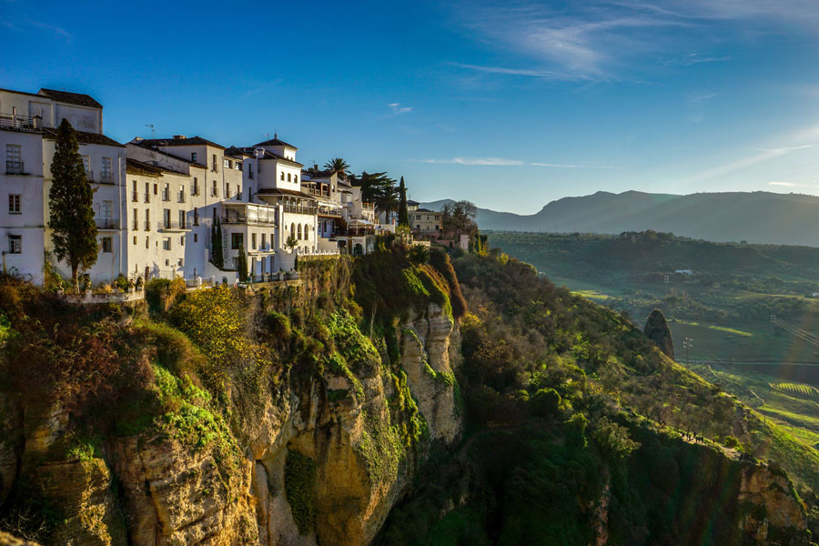 Ronda town sunset Andalucia Spain